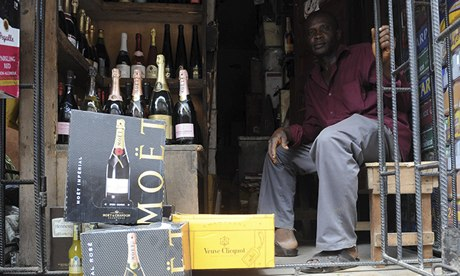 Champagne in Lagos
